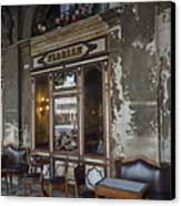Cafe Terrace On Piazza San Marco Canvas Print