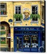 Cafe Van Gogh Canvas Print by Marilyn Dunlap