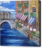 Cafe Walk Canvas Print