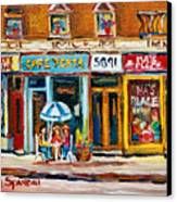 Cafe Yenta And Ma's Place Canvas Print
