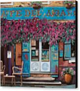 caffe del Aigare Canvas Print by Guido Borelli