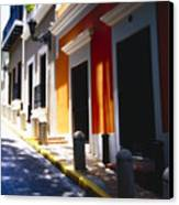 Calle Del Sol Old San Juan Puerto Rico Canvas Print by George Oze