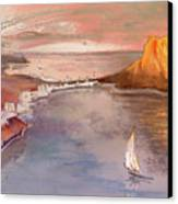 Calpe At Sunset Canvas Print by Miki De Goodaboom