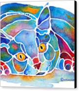 Calypso Cat Canvas Print by Jo Lynch