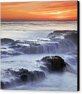 Cambria Coast Sunset Canvas Print by Nolan Nitschke