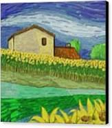 Camp De Girasols Canvas Print