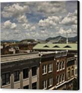 Campbell Avenue Rooftops Roanoke Virginia Canvas Print