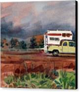 Camper On Pacific Coast Highway Canvas Print