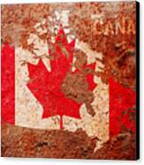 Canada Flag Map Canvas Print