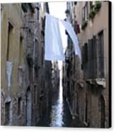 Canal. Venice Canvas Print by Bernard Jaubert