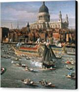 Canaletto: Thames, 18th C Canvas Print by Granger