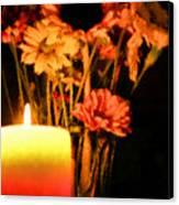 Candle Lit Canvas Print by Kristin Elmquist
