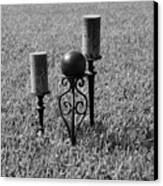 Candles In Grass Canvas Print by Rob Hans