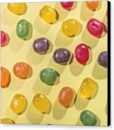 Candy Scattered Canvas Print by Deyan Georgiev