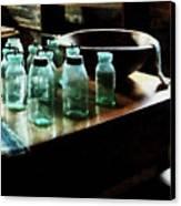 Canning Jars Canvas Print by Susan Savad
