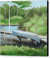 Canoe Dock Canvas Print