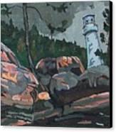 Canoe Lake Light Canvas Print