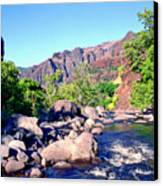 Canyon River  Canvas Print by Kevin Smith