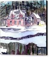 Cape Cod House Canvas Print