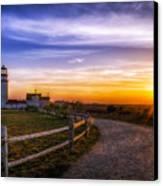 Cape Cod Light Canvas Print by Mark Papke