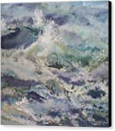 Cape Elizabeth Wave Breaks Canvas Print
