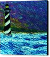 Cape Hetteras Light House Canvas Print by Jeanette Stewart