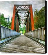 Caperton Trail And Bridge Canvas Print by Steven Ainsworth