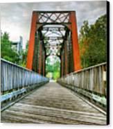 Caperton Trail And Bridge Canvas Print by Steven Ainsworth