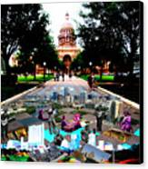 Capital Collage Austin Music Canvas Print by James Granberry