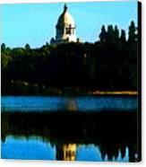 Capital Lake Canvas Print