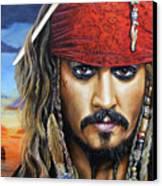 Captain Jack Canvas Print by Arie Van der Wijst