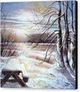 Capturing The Snow Canvas Print