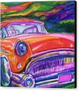 Car And Colorful Canvas Print by Evelyn Sprouse Rowe