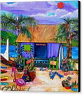Cara's Island Time Canvas Print by Patti Schermerhorn