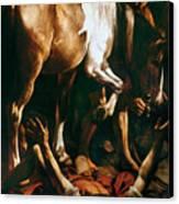 Caravaggio: St. Paul Canvas Print by Granger