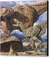 Carcharodontosaurus Guards Its Kill Canvas Print