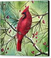 Cardinal Canvas Print by David G Paul