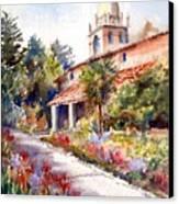Carmel Mission Courtyard Canvas Print