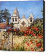 Carmel Mission Canvas Print by Shelley Cost