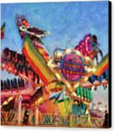 Carnival - A Most Colorful Ride Canvas Print by Mike Savad