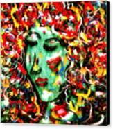 Carnival Girl Canvas Print