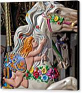 Carousel Horse And Angel Canvas Print by Garry Gay