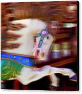 Carousel Horse In Motion Canvas Print