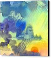 Carribean Rain At Sunset Canvas Print