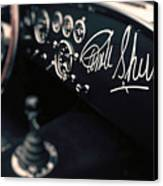 Carroll Shelby Signed Dashboard Canvas Print
