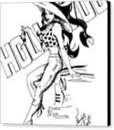 Cartoon Actress Canvas Print