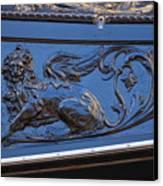 Carving On Gondola In Venice Canvas Print