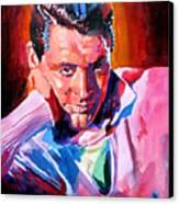 Cary Grant - Debonair Canvas Print by David Lloyd Glover