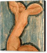 Caryatid Canvas Print by Amedeo Modigliani