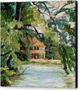 Cascadilla Boathouse Ithaca New York Canvas Print by Ethel Vrana